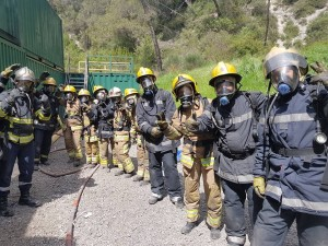 STCW Firefighting Students  in Contes