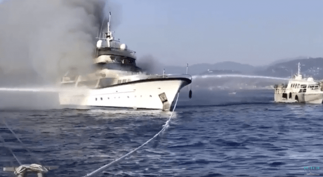 Fires on motor yachts